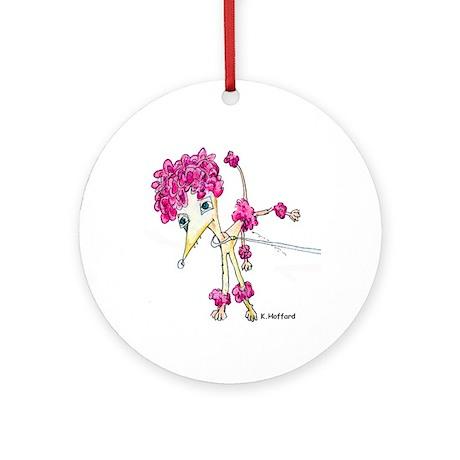 Clown dog Ornament (Round)