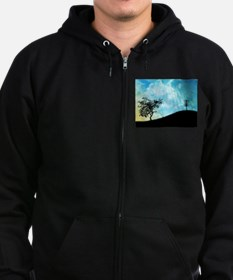 Basket On A Hill #2 Zip Hoodie (dark)