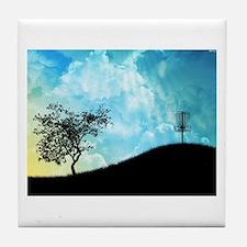 Basket On A Hill #2 Tile Coaster