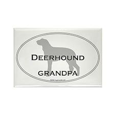 Deerhound GRANDPA Rectangle Magnet