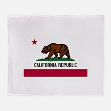 California Flag Throw Blanket