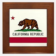 California Flag Framed Tile