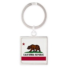 California Flag Square Keychain