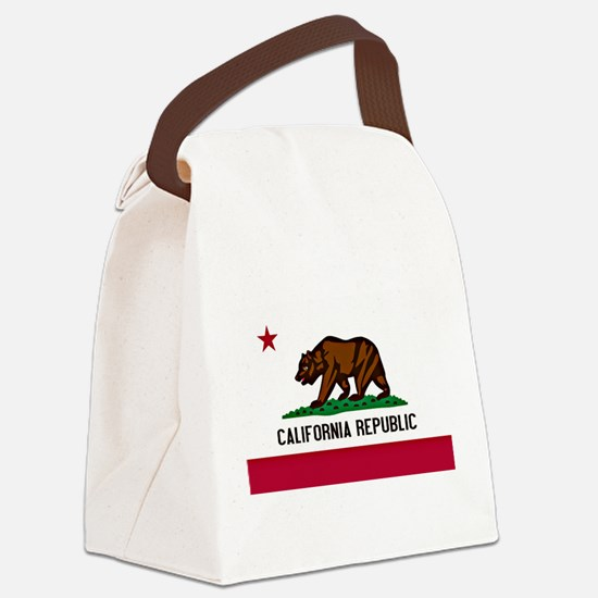 California Flag Canvas Lunch Bag