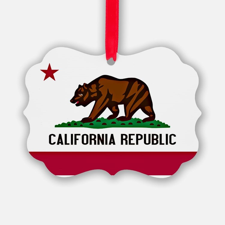 California Flag Ornament