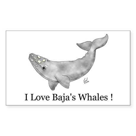 Gray Whale Rectangle Sticker