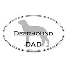 Deerhound DAD Oval Decal