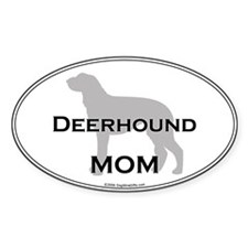 Deerhound MOM Oval Decal