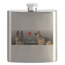 I Love Grandma German Shepherd Flask
