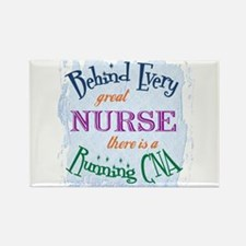 Behind Nurse, Running CNA Rectangle Magnet