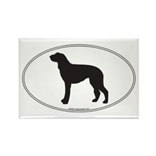 Deerhound Silhouette Rectangle Magnet