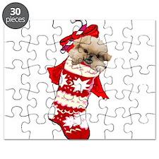 pekingese christmas stocking Puzzle