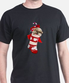pekingese christmas stocking T-Shirt