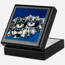 Schnauzer Puppies Keepsake Box