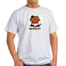 SHAWN PETER THE MAGNIFICENT Ash Grey T-Shirt