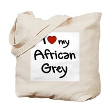 African Grey Love Tote Bag