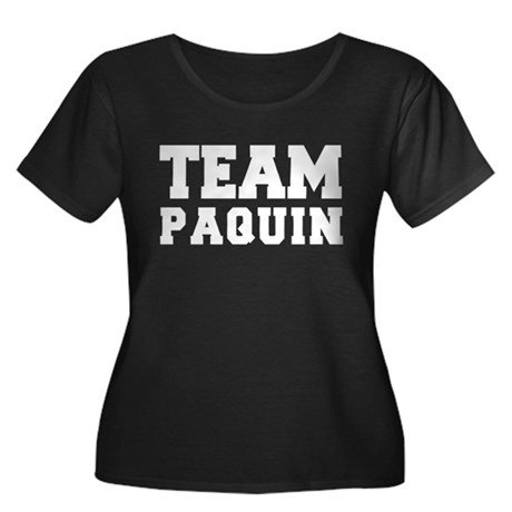 TEAM PAQUIN Women's Plus Size Scoop Neck Dark T-Sh