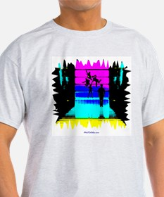 Psychedelic Twister Ash Grey T-Shirt