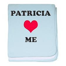 Patricia Loves Me baby blanket