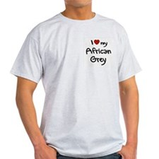African Grey Love Ash Grey T-Shirt