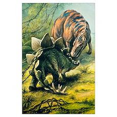 Artist's impression of Tyrannosaurus Poster