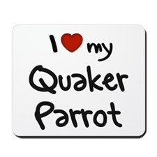 Quaker Parrot Love Mousepad