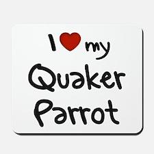Quaker Parrot Love Mousepad