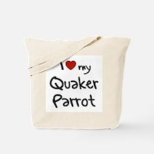 Quaker Parrot Love Tote Bag