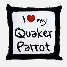 Quaker Parrot Love Throw Pillow