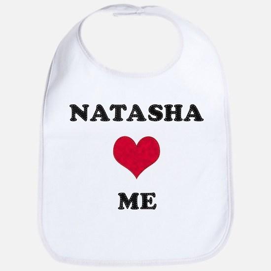 Natasha Loves Me Bib