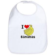 I Heart (love) Bananas Bib
