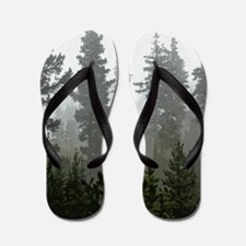 Misty pines Flip Flops