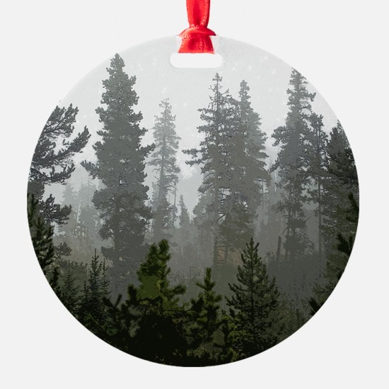 Misty pines Ornament
