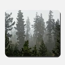 Misty pines Mousepad