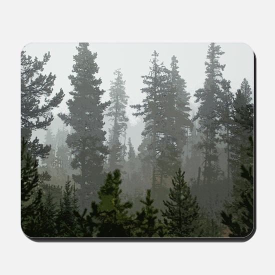 Misty pines Mousepad