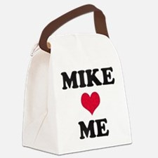 Mike Loves Me Canvas Lunch Bag