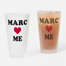 Marc Loves Me Drinking Glass