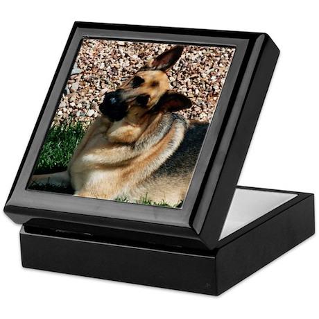 Quizzical German Shepherd Dog Keepsake Box