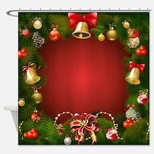 Cute Santa reindeer Shower Curtain