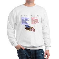 Colbert Report Lists Sweatshirt