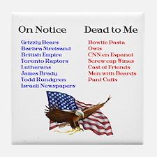 Colbert Report Lists Tile Coaster