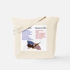 Colbert Report Lists Tote Bag