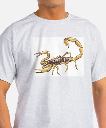 Scorpion (Front only) Ash Grey T-Shirt