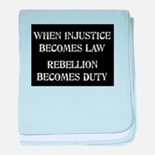 When Injustice... baby blanket
