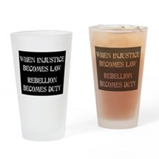 When Injustice... Drinking Glass
