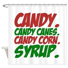 Elf Food Groups Shower Curtain