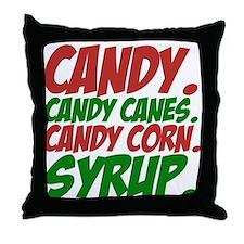 Elf Food Groups Throw Pillow