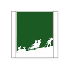 "Christmas Woodblock Square Sticker 3"" x 3"""