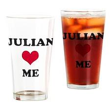 Julian Loves Me Drinking Glass