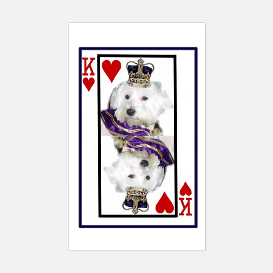 King of hearts Rectangle Decal